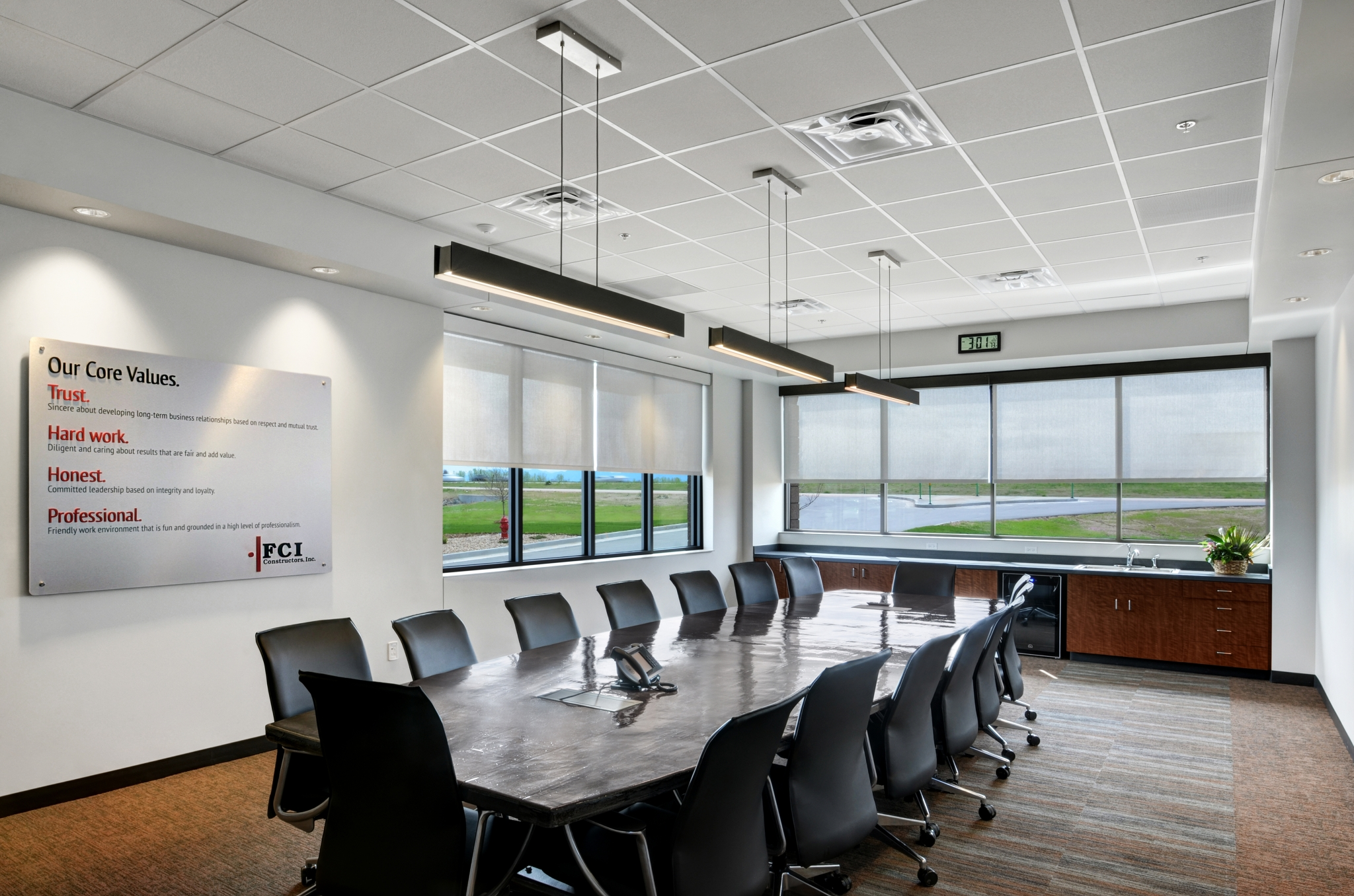 office lighting levels at work. the 12,000 sf office building features high-efficiency mechanical and lighting levels at work